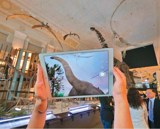 AR+3D 台博館讓恐龍動起來
