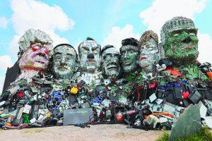 3C廢棄品 打造總統山
