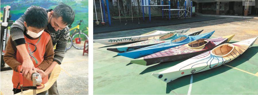 小六打造獨木舟 約定解封後下海